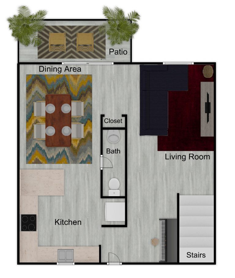 Menclair Townhouse 1st Floor Furnished