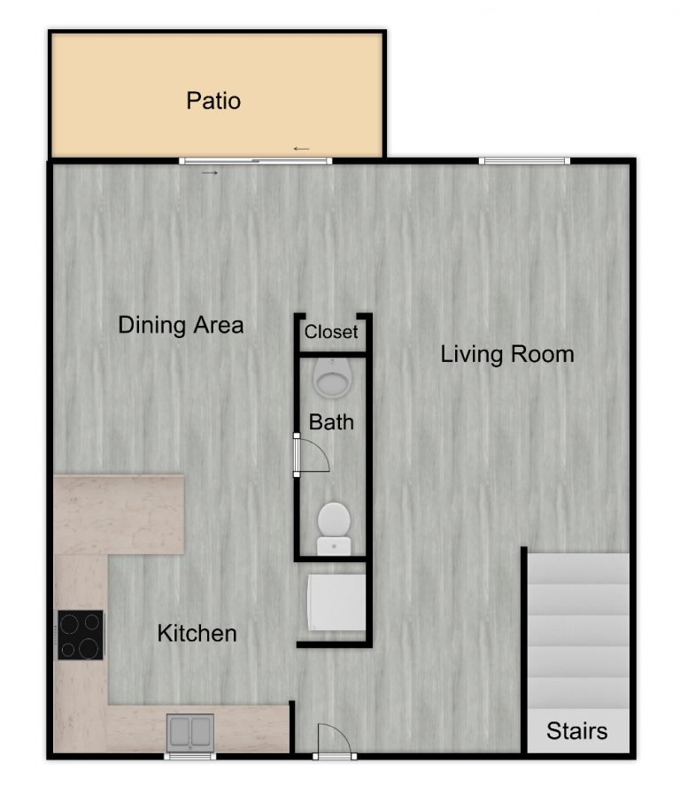Menclair Townhouse 1st Floor Unfurnished